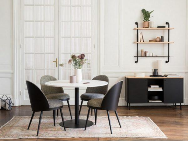 resistub-lili-chaise-tissu-buffet-edgar-niche-metal-noir-porte-revue-phileas-etagere-edgar-label-maison-nantes